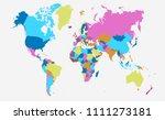 color world map vector | Shutterstock .eps vector #1111273181