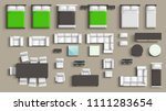furniture big set | Shutterstock .eps vector #1111283654