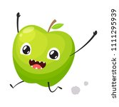 green apple is running | Shutterstock .eps vector #1111295939