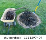 garden maintenance removing a... | Shutterstock . vector #1111297409