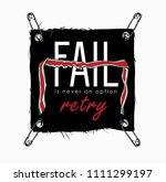 typography slogan on black... | Shutterstock .eps vector #1111299197