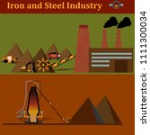 iron and steel industry.... | Shutterstock .eps vector #1111300034