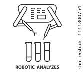 robotic analyzes line icon.... | Shutterstock .eps vector #1111300754