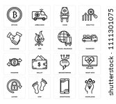 set of 16 icons such as... | Shutterstock .eps vector #1111301075