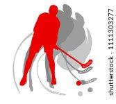 floorball player vector...   Shutterstock .eps vector #1111303277