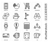 set of 16 icons such as tea ...