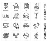 set of 16 icons such as fire ... | Shutterstock .eps vector #1111304741