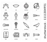 set of 16 icons such as opener  ...