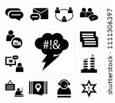 set of 13 simple editable icons ... | Shutterstock .eps vector #1111306397