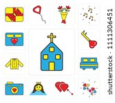set of 13 simple editable icons ... | Shutterstock .eps vector #1111306451