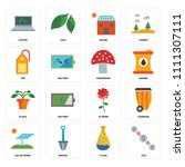 set of 16 icons such as co2 ...