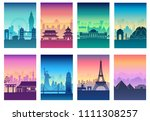 travel of the world brochure... | Shutterstock . vector #1111308257