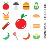 set of 13 simple editable icons ... | Shutterstock .eps vector #1111311131