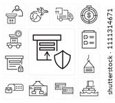 set of 13 simple editable icons ...   Shutterstock .eps vector #1111314671