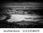 three cliffs bay on the gower... | Shutterstock . vector #1111318655