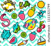 vector tropical summer seamless ... | Shutterstock .eps vector #1111321799
