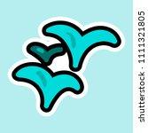 vector plant or alga in cartoon ... | Shutterstock .eps vector #1111321805