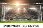 a goal on the professional... | Shutterstock . vector #1111321931