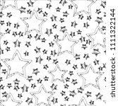 abstract seamless stars pattern.... | Shutterstock . vector #1111322144