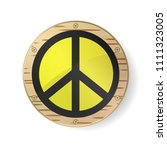 sign pacifist  peace symbol.... | Shutterstock .eps vector #1111323005