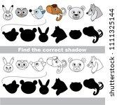 northern animals head set to... | Shutterstock .eps vector #1111325144