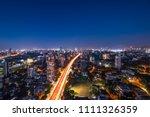 mumbai night view cityscape ... | Shutterstock . vector #1111326359