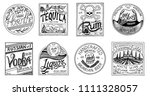 vintage american badge.... | Shutterstock .eps vector #1111328057