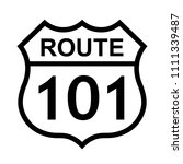 Us Route 101 Sign  Shield Sign...