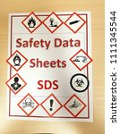 whmis safety data sheets... | Shutterstock . vector #1111345544