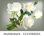 illustration with white rose... | Shutterstock .eps vector #1111346261