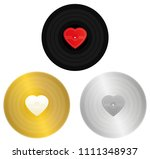 love songs records   black ... | Shutterstock .eps vector #1111348937
