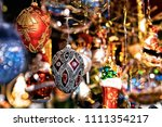 glass christmas tree...   Shutterstock . vector #1111354217