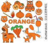 orange objects color elements... | Shutterstock .eps vector #1111359401