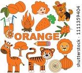 orange objects color elements... | Shutterstock .eps vector #1111359404