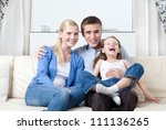 happy family has a rest   Shutterstock . vector #111136265
