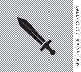 vector icon sword on a... | Shutterstock .eps vector #1111371194