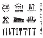 set of different handyman... | Shutterstock .eps vector #1111383194