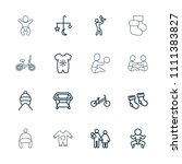 newborn icon. collection of 16... | Shutterstock .eps vector #1111383827