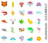 manifold icons set. cartoon set ... | Shutterstock . vector #1111388117