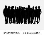 black silhouette of a man. | Shutterstock .eps vector #1111388354