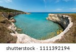 picturesque seascape with white ... | Shutterstock . vector #1111392194