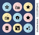 set of 9 favorite filled icons...