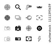 focus icon. collection of 16... | Shutterstock .eps vector #1111395659