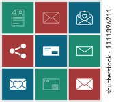 send icon. collection of 9 send ... | Shutterstock .eps vector #1111396211