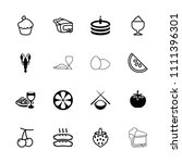 delicious icon. collection of... | Shutterstock .eps vector #1111396301