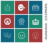 joy icon. collection of 9 joy... | Shutterstock .eps vector #1111396331