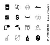 hand icon. collection of 16... | Shutterstock .eps vector #1111396397
