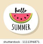 funny summer badge in retro... | Shutterstock .eps vector #1111396871