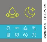 cursor icon with moon ... | Shutterstock .eps vector #1111397621