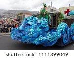 funchal  madeira  portugal  ... | Shutterstock . vector #1111399049